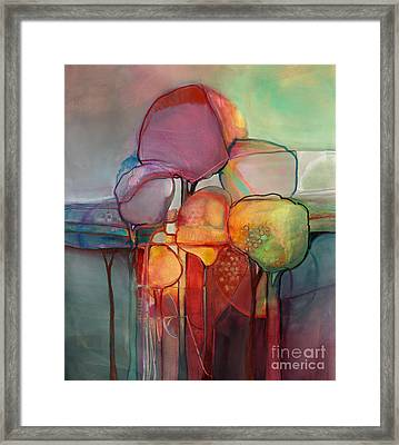 Forest Through The Trees Framed Print by Michelle Abrams
