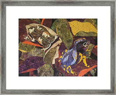 Forest Toads Framed Print by Lynda K Boardman