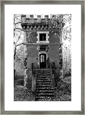 Forest Tower Framed Print by Georgia Fowler