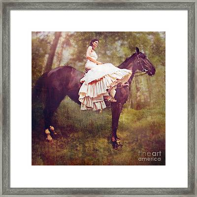 Forest Trails Framed Print by Lyndsey Warren