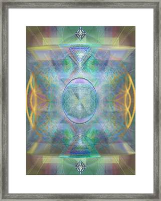 Forested Chalice In The Flower Of Life And Vortexes Framed Print