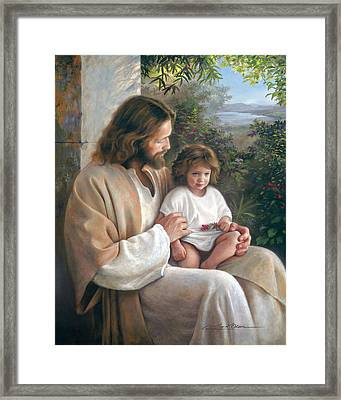Forever And Ever Framed Print by Greg Olsen