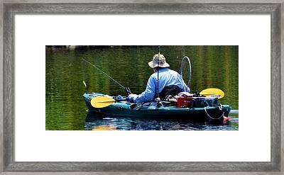 Forever Fishing Framed Print by Pamela Blizzard