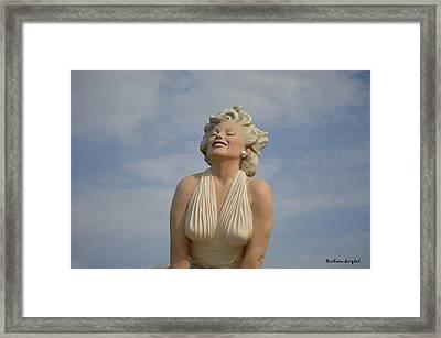 Forever Marilyn Close Up Framed Print by Barbara Snyder