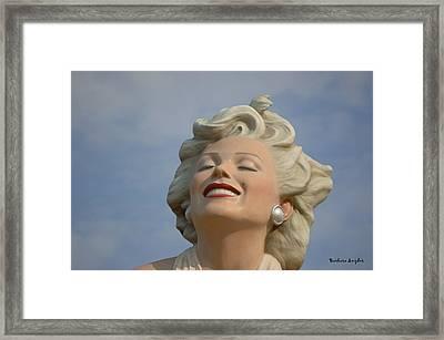 Forever Marilyn Detail Framed Print by Barbara Snyder