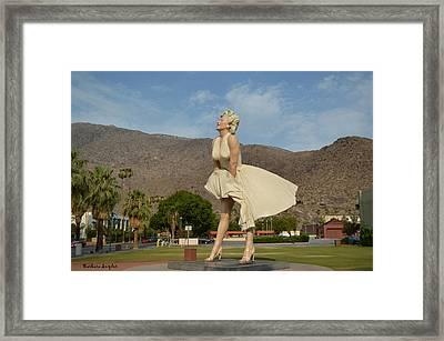 Forever Marilyn Sculpture  Framed Print by Barbara Snyder
