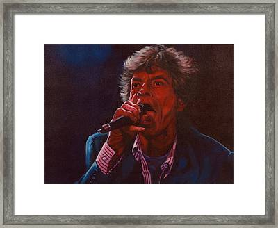 Forever Mick Framed Print by Debbie Patrick