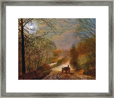 Framed Print featuring the painting Forge Valley Near Scarborough by John Atkinson Grimshaw