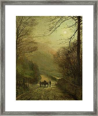 Forge Valley, Scarborough Framed Print by John Atkinson Grimshaw