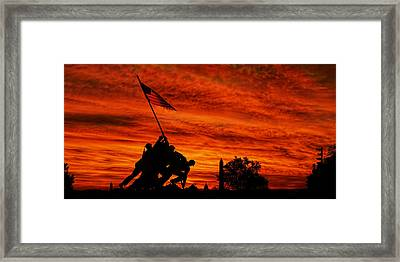 Forged In Fire Framed Print