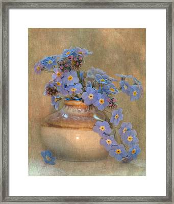 Forget Me Not Bouquet Framed Print by Angie Vogel