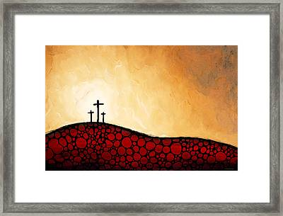 Forgiven - Christian Art By Sharon Cummings Framed Print by Sharon Cummings