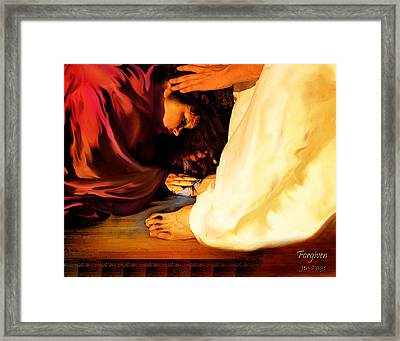 Forgiven Framed Print by Jennifer Page