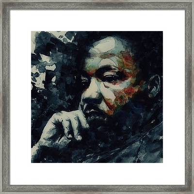 Forgiveness Is Not An Occasional Act It Is A Constant Attitude Framed Print by Paul Lovering