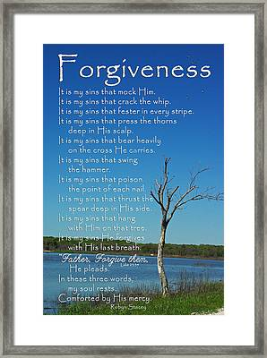 Forgiveness It Is My Sins Framed Print by Robyn Stacey