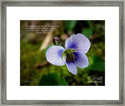 Forgiveness Framed Print by Lainie Wrightson