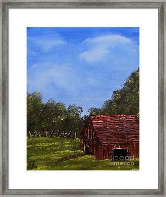 Forgotten Barn Framed Print by Nature's Effects - Heather Seward