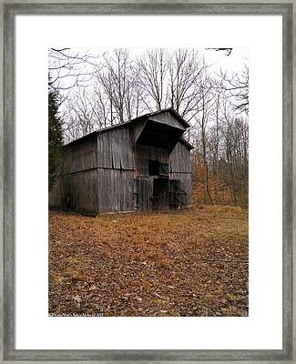 Framed Print featuring the photograph Forgotten Barn by Nick Kirby