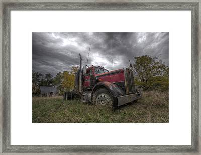 Forgotten Big Rig 2014 V2 Framed Print by Aaron J Groen