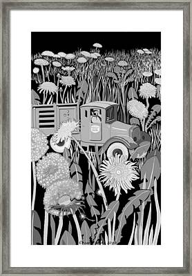 Framed Print featuring the drawing Forgotten by Carol Jacobs