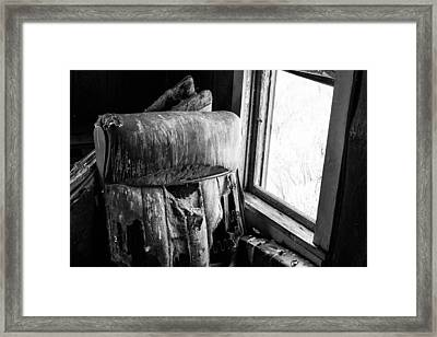 Forgotten Chair By The Window Framed Print by Nathan Hillis
