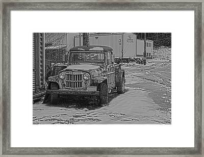 Framed Print featuring the pyrography Forgotten Classic Truck by Timothy Latta