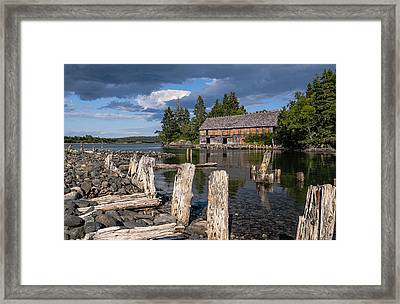 Forgotten Downeast Smokehouse Framed Print by Marty Saccone