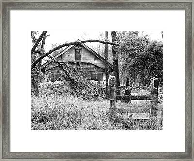 Forgotten Dreams - Bw Framed Print by Rory Sagner