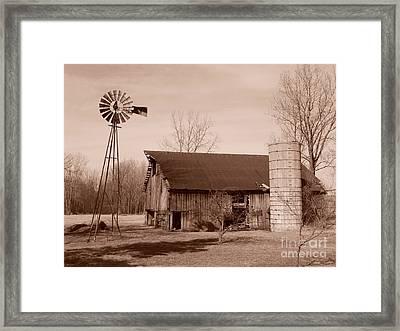 Forgotten Farm Framed Print by Judy Whitton