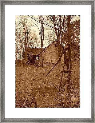 Forgotten Farmhouse Framed Print