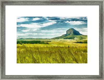 Forgotten Fields Framed Print by Ayse Deniz