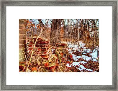 Forgotten Fire Framed Print by Mark Pearson