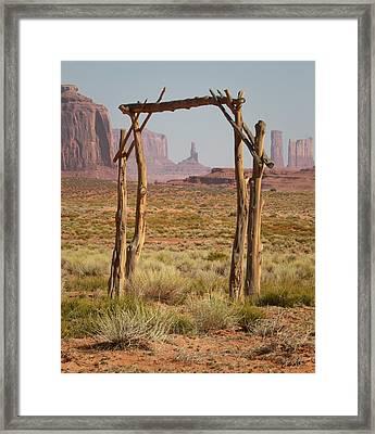 Forgotten Gateway Framed Print