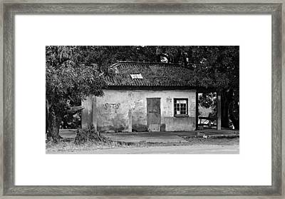 Forgotten - Black And White Framed Print