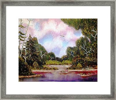 Framed Print featuring the painting Forgotten Inlet by The GYPSY And DEBBIE