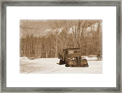 Forgotten Framed Print by Janet Davaros