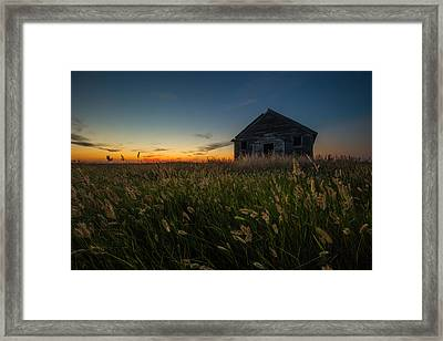 Forgotten On The Prairie Framed Print by Aaron J Groen