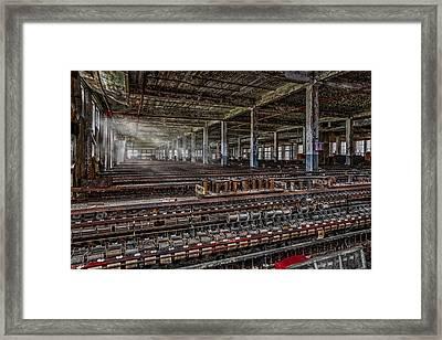 Forgotten Silk Mill Framed Print by Susan Candelario
