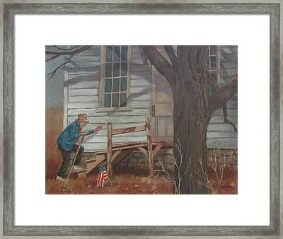 Framed Print featuring the painting Forgotten by Tony Caviston