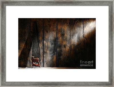 Forgotten Tool Framed Print by Olivier Le Queinec