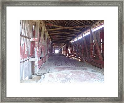 Framed Print featuring the photograph Forgotten Tunnel by Fortunate Findings Shirley Dickerson