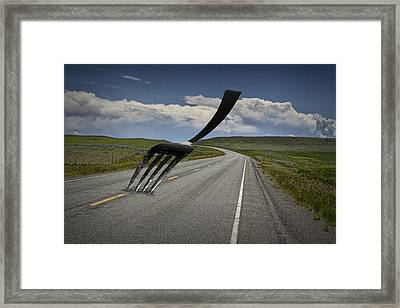 Fork In The Road Framed Print by Randall Nyhof