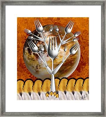 Fork Tree Framed Print by Ally  White