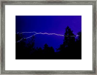 Forked Lightning Framed Print by Alfredo Martinez