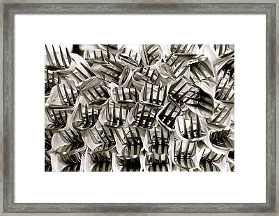 Forks Framed Print