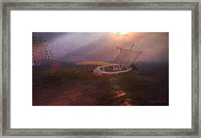 Framed Print featuring the digital art Forlorn by Kylie Sabra