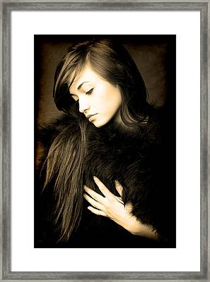Forlorn Woman Framed Print