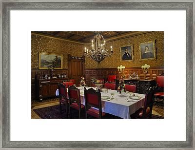 Formal Dining Room Framed Print by Susan Candelario