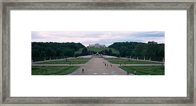 Formal Garden In Front Of A Palace Framed Print