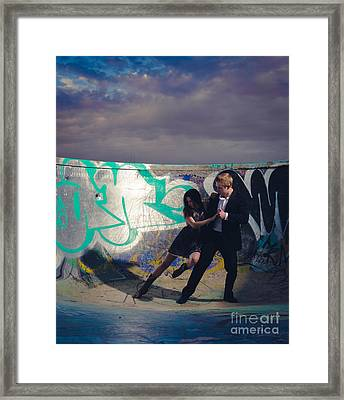 Formal Hip Lean Framed Print